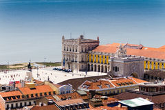 The Praca do Comercio (English: Commerce Square) is located in t Royalty Free Stock Photography
