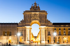 The Praca do Comercio (English: Commerce Square) is located in t Stock Photos