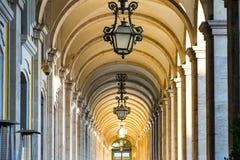 Praca do Comercio (Handelsvierkant) in Lissabon stock foto