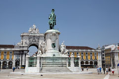 Praca do Comercio in Lisbon Royalty Free Stock Image