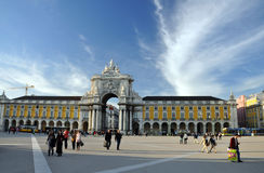 Praca do comercio lisbon Royalty Free Stock Photo