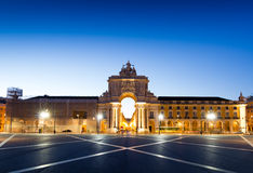 The Praca do Comercio in Lisbon. Royalty Free Stock Images
