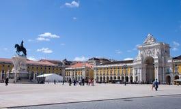 Praca do Comercio in Lisbon Stock Photos