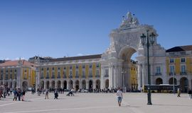 Praca do Comercio in Lisbon Royalty Free Stock Photography