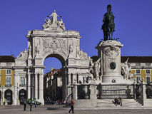 Praca do Comercio Lisbon. Praca do Comercio or, in English, Commerce Square, Lisbon. The name Palace Square is clearly a reference to the Palace that was located Stock Image