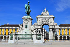 Praca do Comercio, Lisbon, Portugal Royalty Free Stock Photos