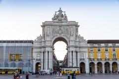 The Praca do Comercio in Lisbon Royalty Free Stock Photography