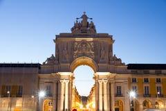 The Praca do Comercio in Lisbon Stock Images