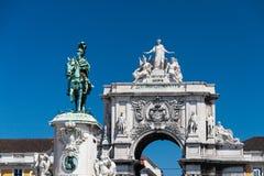 Praca do Comercio in Lisbon, Portugal Royalty Free Stock Photo