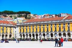 Praca do Comercio in Lissabon, Portugal Stock Foto's