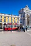 Praca do Comercio van de stad van Lissabon, Portugal Royalty-vrije Stock Fotografie