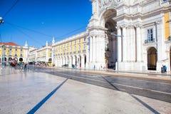 Praca do Comercio van de stad van Lissabon, Portugal Royalty-vrije Stock Foto
