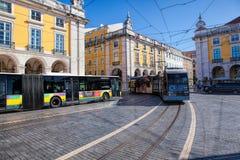 Praca do Comercio van de stad van Lissabon, Portugal Stock Foto
