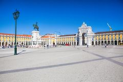 Praca do Comercio van de stad van Lissabon, Portugal Royalty-vrije Stock Afbeeldingen