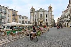 Praca do Giraldo or Giraldo Square, Evora Stock Image