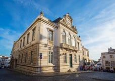 Praca do Giraldo square of Evora, Alentejo. Portugal. Stock Images