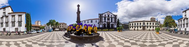 Praca do Municipio square - Funchal, Madeira, Portugal Royalty Free Stock Images