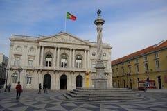 Praca doet municipio in Lissabon royalty-vrije stock foto's