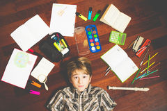 Praca domowa dla chłopiec Obraz Stock