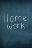 Praca domowa na chalkboard Fotografia Stock