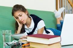 praca domowa, nastolatków Obraz Stock