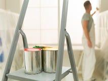 Praca domowa rozmyty mężczyzna w tle Zdjęcia Stock