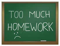 Praca domowa stres. Fotografia Stock
