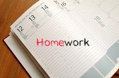Praca domowa teksta pojęcie na notatniku Obraz Royalty Free