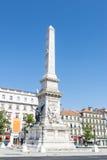 Praca Dos Restauradores à Lisbonne, Portugal Photographie stock