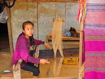 praca dzieci Laos Obrazy Stock