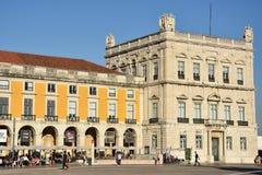 Praca fa Comercio a Lisbona, Portogallo immagini stock libere da diritti