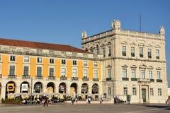 Praca fa Comercio a Lisbona, Portogallo fotografia stock