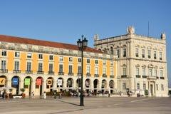 Praca fa Comercio a Lisbona, Portogallo fotografia stock libera da diritti