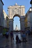Praca fa Comercio a Lisbona, Portogallo immagine stock