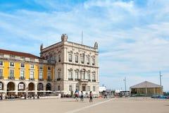 Praca famoso fa il quadrato di commercio di Comercio, Portogallo fotografia stock