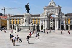Praca faz Comercio em Lisboa, Portugal imagem de stock
