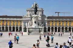 Praca faz Comercio em Lisboa, Portugal foto de stock royalty free