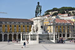 Praca faz Comercio em Lisboa, Portugal fotos de stock