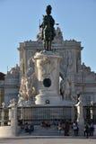 Praca font Comercio à Lisbonne, Portugal photo libre de droits