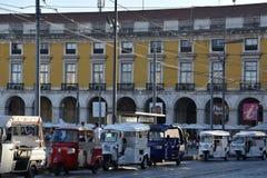 Praca font Comercio à Lisbonne, Portugal image stock