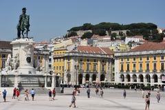 Praca font Comercio à Lisbonne, Portugal image libre de droits