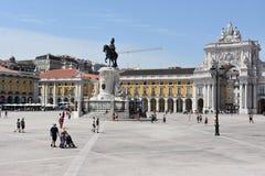Praca font Comercio à Lisbonne, Portugal photographie stock