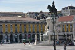 Praca font Comercio à Lisbonne, Portugal photos stock