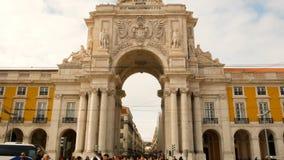Praca hace Comercio en el centro de la ciudad de Lisboa metrajes