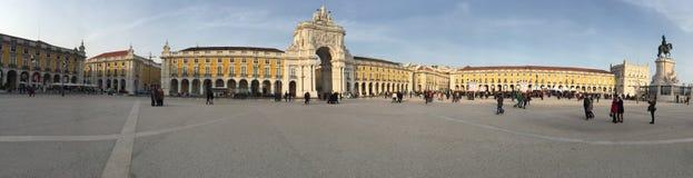 Praca hace comercio en Lisboa Imágenes de archivo libres de regalías