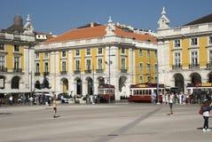 Praca hace Comercio en Lisboa, Portugal Fotografía de archivo libre de regalías