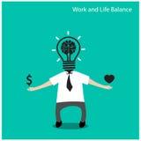 Praca i życia balansowy pojęcie Zdjęcia Royalty Free