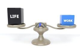 Praca i życie równowaga, 3d Zdjęcie Stock