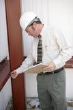 praca inspektorska budowy Zdjęcia Royalty Free