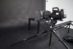 Praca kamera wideo w studiu Zdjęcia Stock